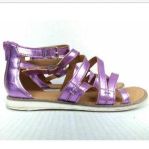 Hanna Andersson Purple Sandals Girls Vera II Sz 4